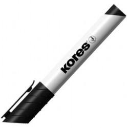 Popisovač Kores na tabule - 3mm, černý