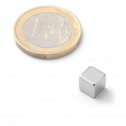 Krychle malá - stříbrná - 1 kus