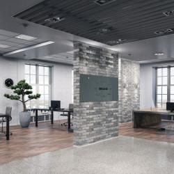 Skleněná magnetická tabule - šedá antracitová do kanceláře