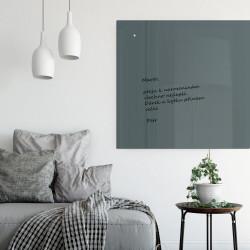 Skleněná magnetická tabule - šedá antracitová  do domácnosti
