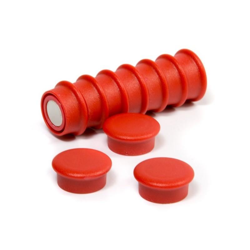 OF-1 - Kancelářské magnety - červené - sada 10 kusů